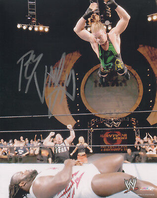 ROB VAN DAM Signed 10x8 Photo WRESTLING LEGEND COA