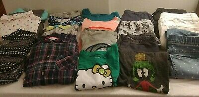 Girl Size14/16  Justice champion cat&jack pants shirts hoodie dress Lot Of 18