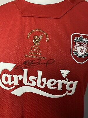 Steven Gerrard Signed Special European Champions Liverpool Shirt With COA
