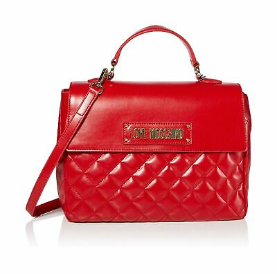 LOVE MOSCHINO BORSA Donna Quilted Nappa Pu Rosso