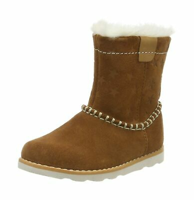 Clarks Girls' Crown Piper T Slouch Boots 8.5 UK Brown Tan Suede Tan Suede