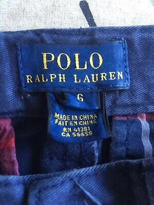 Boys/Girls Age 6 Ralph Lauren Polo Trousers Chinos