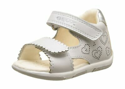 Geox Baby Girls' B Sandal Tapuz B 7.5 UK Child White White Silver