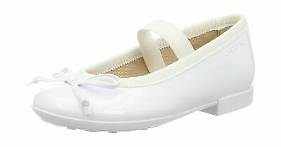 Geox Girls Jr Plie' I Ballet Flats 11.5 UK Child White