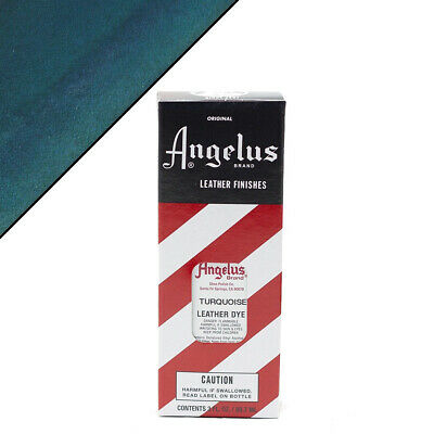 C--043 Angelus Permanent Leather Dye With Applicator 3Oz Turquoise
