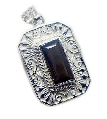 charming Smoky Quartz 925 Sterling Silver Brown Pendant genuine gemstones US
