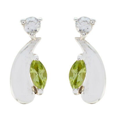 appealing Peridot 925 Sterling Silver Green Natural suppiler US gift