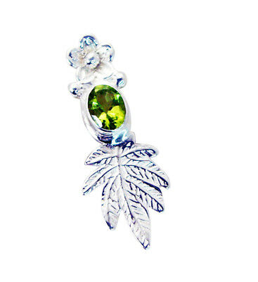 grand Peridot 925 Sterling Silver Green Pendant Natural indian US gift