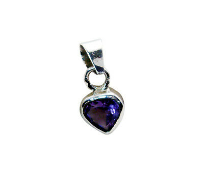 appealing Amethyst 925 Sterling Silver Purple Pendant Natural Designer US gift