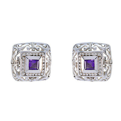appealing Amethyst 925 Sterling Silver Purple Natural supply US gift