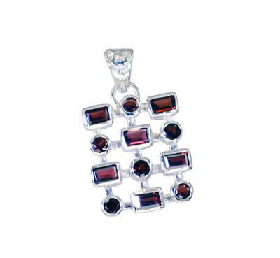 grand Garnet 925 Sterling Silver Red Pendant Natural wholesale US gift