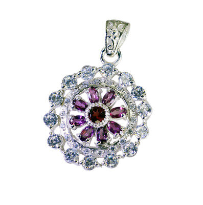 appealing Garnet 925 Sterling Silver Red Pendant genuine exporter US gift