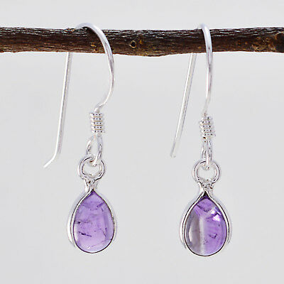 exquisite Amethyst 925 Sterling Silver Purple Earring Natural jewelry US gift