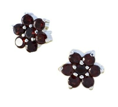 gorgeous Garnet 925 Sterling Silver Red Natural jaipur CA gift