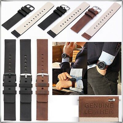 Genuine Leather Watch Strap Replacement Strap for Samsung Gear S2 Classic 20MM