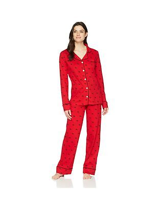 Hatley Women's Long Sleeve Pajama Sets Pyjama S Red (Moose on Red 600)
