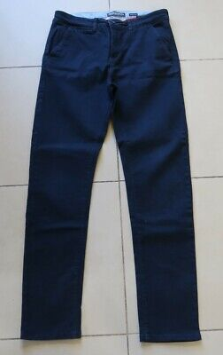 Boys Navy Stretch Skinny Comfort Fit Trousers From H&M (14 Yrs) - Good Condition
