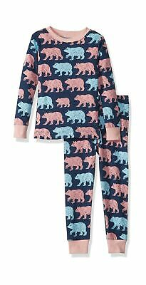 Hatley Girl's Long Sleeve Pyjama Sets 8 Years Blue (Cottage Bears 400)