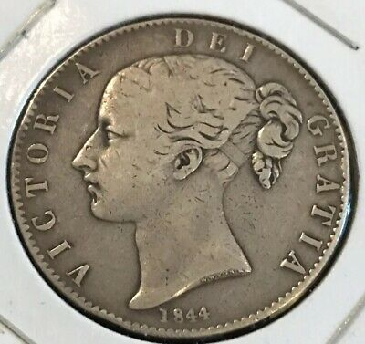 Great Britain - 1844 Large Silver Whole One Crown - Victoria 1 CROWN