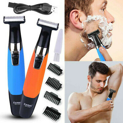Cordless Electric Hair Trimmer Clipper Beard Shaver Razor Set Body Rechargeable