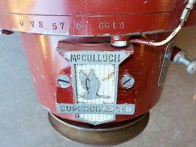 McCULLOCH Used Vintage SUPERCHARGER VS 57 used various Ford Chrysler Studebaker