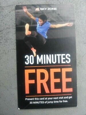 Sky Zone Indoor Trampoline Park Jump Passes, 30min jump time