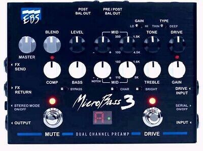 EBS MicroBass 3 2-channel Preamp - 2-channel Bass Preamp