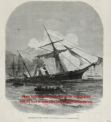 "Confederate Raider C.S.S /""You Can Run/"" Tom Freeman Naval Artist Proof Alabama"