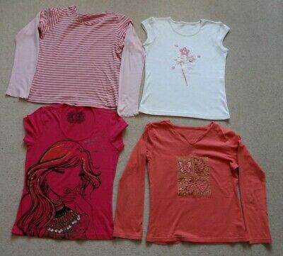 Bundle Of 4 Beautiful Girls Tops, 3 Marks & Spencer. Age 12, 2 Bnwot, 2 Used.