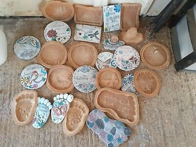 13 Latex Plaque Garden Moulds, NEW,
