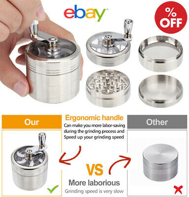 4 Layer Herb Grinder Spice Crusher Leaf Design Tobacco Zinc Hand Muller Smoke