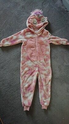 Girls 1Onesie PJs Pyjamas Unicorn By NEXT 6-7 Years Fab Condition!!