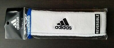 "Adidas Headband Running Workout Sport Team Select Black White Climalite 1/"" NIP"