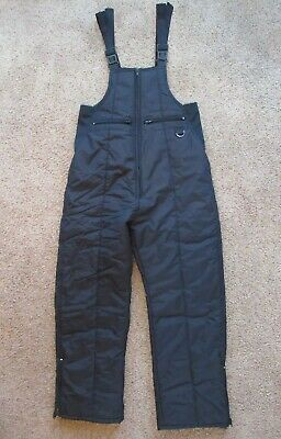 Swiss Alps Unisex Size M Insulated Ski Pant Bib Overall Snow Pants Black Medium