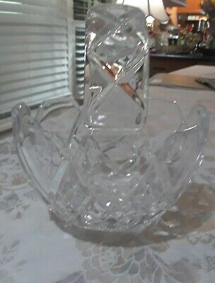 Leaded Crystal Handled Bowl Made in Germany