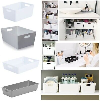 Plastic Studio Storage Basket Set For Office Home Kitchen Tidy Organiser Baskets