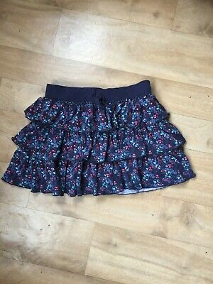 girls navy blue floral rara skirt from next age 10 years