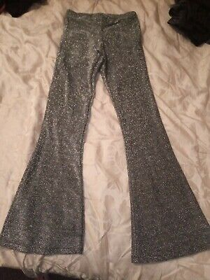 Girls Trousers New Look Sparkly Silver Age 10-11