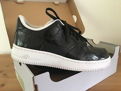 NIKE Women's Black Patent Air Force One Size UK7
