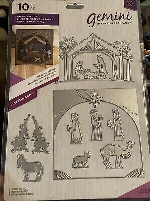 Crafters Companion Gemini Papercraft Die - Away In A Manger