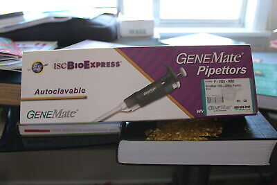 Genemate Pipettors 1000-5000µL Volume ISC BioExpress NOB CAT P-3963-5000