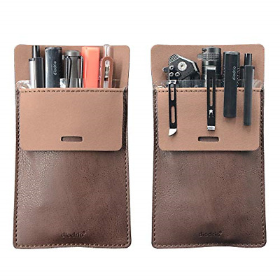 Pocket Protector, Leather Pen Pouch Holder Organizer, for Shirts Lab Coats, Hold