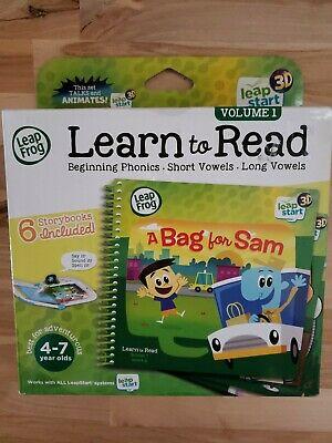 LeapFrog LeapStart 3D Green Learn to Read Volume 1 Story 6 Books Included