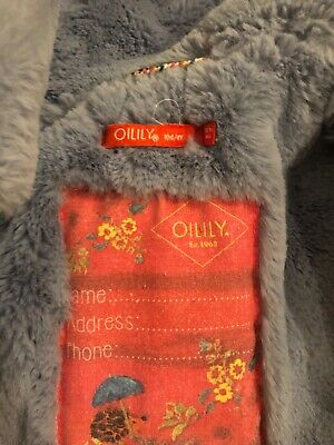 Girls Designer Oilily Winter Faux Fur Lined Coat Age 4 Years Vgc