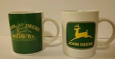 John Deere coffee mug cup set of 2 Gibson farming tractors