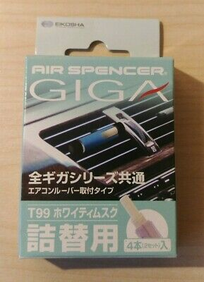 Air Spencer GIGA Refill White Musk Japanese Car Freshener