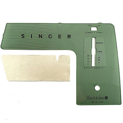 Singer 649 Sewing Machine PARTS - FACEPLATE / FRONT PANEL part touch & sew