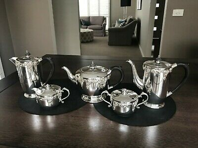 Crusader Silverplate Tea and Coffee set 5 pieces