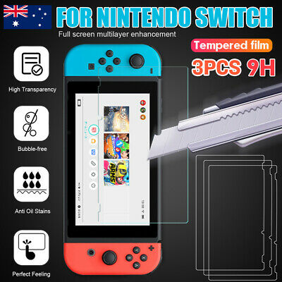 3pcs 9H Nintendo Switch LCD Tempered Glass Screen Protector Film Cover Guard AU
