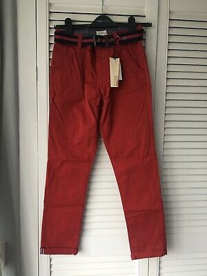 Bnwt J Jasper Conran Boys Red Slim Fit Jeans Trousers Chinos Age 12 Years New